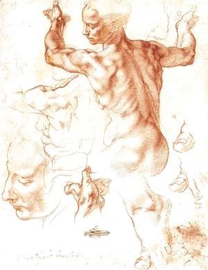 Michelangelo - Study for the Libyan Sibyl 1511