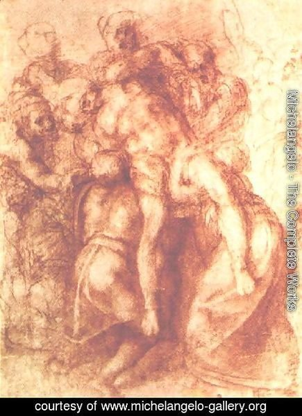 Michelangelo - Study for a Deposition 1555