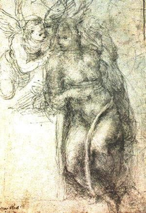 Michelangelo - Study for an Annunciation 1547