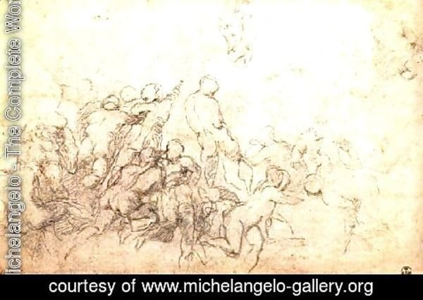 Michelangelo - Study for the Battle of Cascina 1505-06