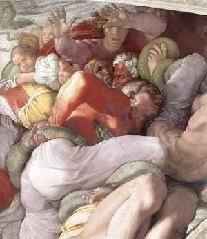 Michelangelo - The Brazen Serpent (detail-1) 1511