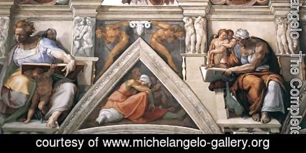 Michelangelo - The ceiling (detail-3) 1508-12