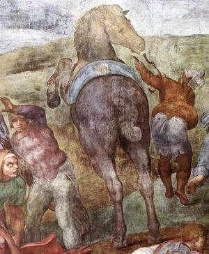 Michelangelo - The Conversion of Saul (detail-1) 1542-45