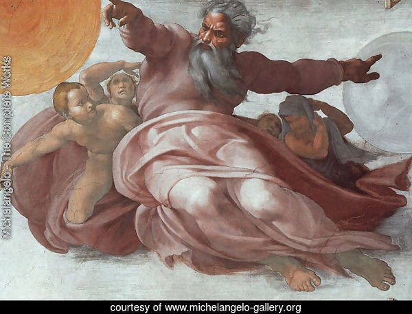 The Creation of the Heavens (detail)  1508-12