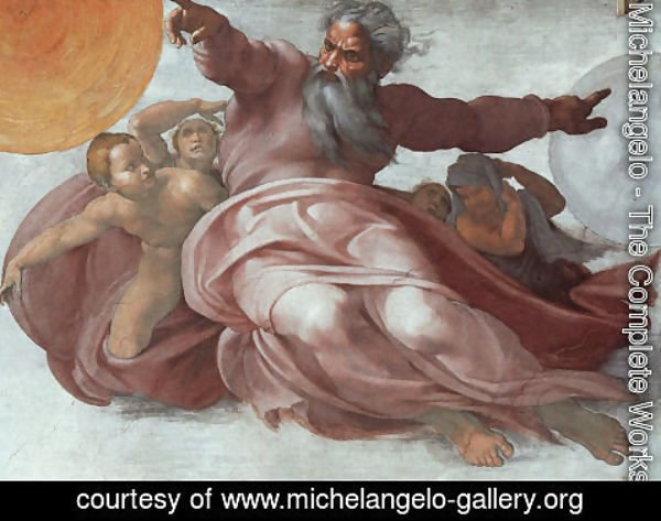 Michelangelo - The Creation of the Heavens (detail)  1508-12