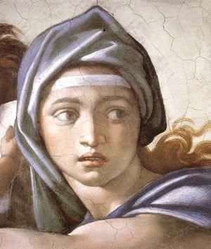 Michelangelo - The Delphic Sibyl (detail-1) 1509