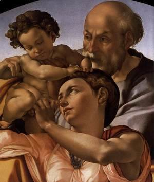 Michelangelo - The Doni Tondo (detail) c. 1506