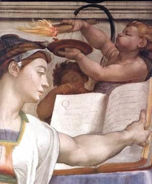 Michelangelo - The Erythraean Sibyl (detail-1) 1509