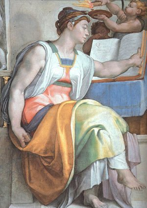 The Erythraean Sibyl (detail-3)  1508-12