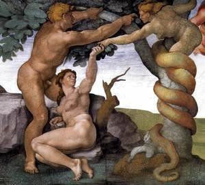 Michelangelo - The Fall -2 1509-10