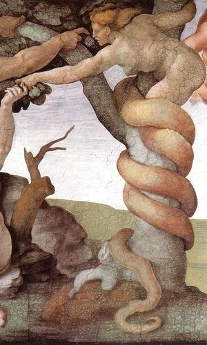 The Fall and Expulsion from Garden of Eden (detail-2) 1509-10