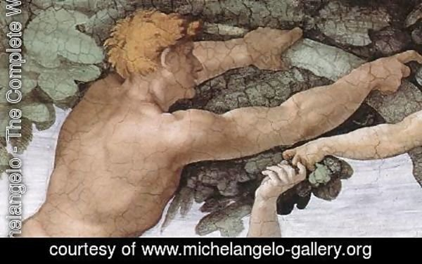 Michelangelo - The Fall and Expulsion from Garden of Eden (detail-3) 1509-10
