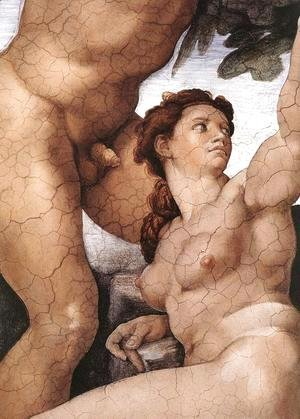 The Fall and Expulsion from Garden of Eden (detail-4) 1509-10