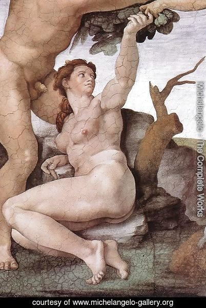 The Fall and Expulsion from Garden of Eden (detail-6) 1509-10