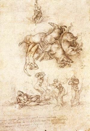 Michelangelo - The Fall of Phaeton c. 1533 2