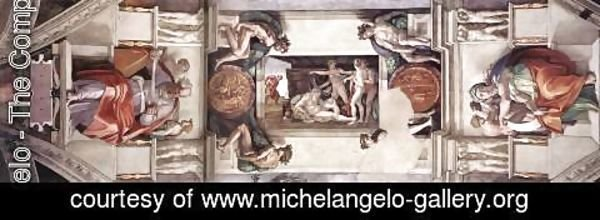 Michelangelo - The first bay of the ceiling 1508-12