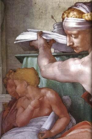 Michelangelo - The Libyan Sibyl (detail) 1511