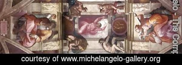 Michelangelo - The ninth bay of the ceiling 1508-12