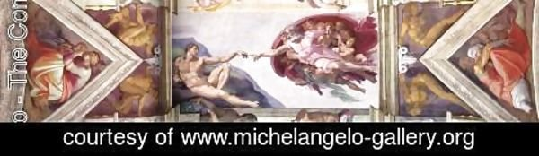 Michelangelo - The second bay of the ceiling 1508-12