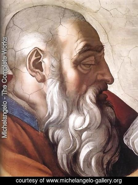 Michelangelo - Zechariah (detail-1) 1509