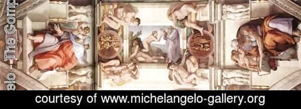 Michelangelo - The fifth bay of the ceiling 1508-12